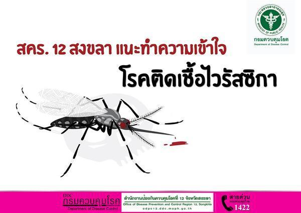 สคร. 12 สงขลา แนะทำความเข้าใจโรคติดเชื้อไวรัสซิกา