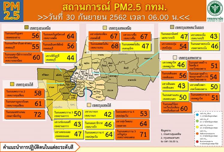 แจ้งเตือน!! สถานการณ์หมอกควัน PM 2.5