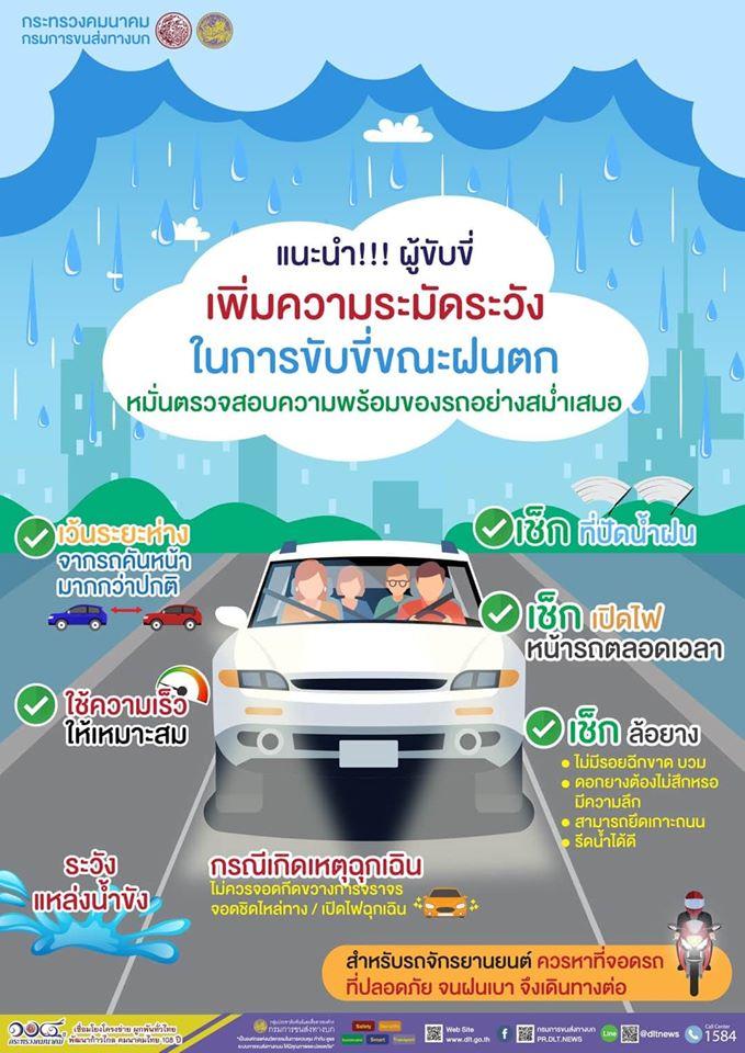 เช็ครถให้พร้อมใช้ ช่วยลดอุบัติเหตุในหน้าฝน