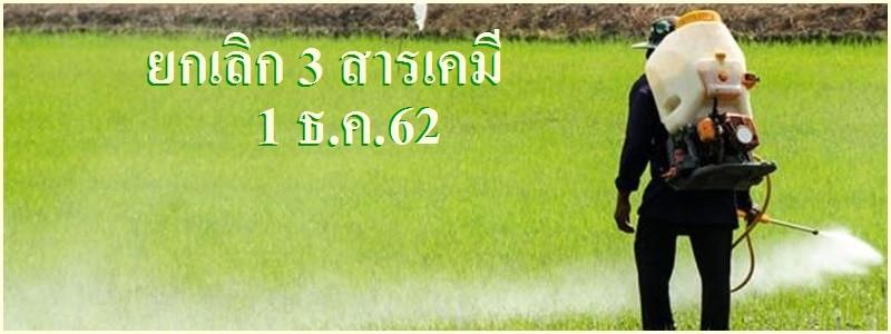 มติ 9 ต่อ 0 ยกเลิกการใช้ 3 สารพิษอันตราย/เริ่ม 1 ธ.ค.62 ห้ามครอบครอง จำหน่าย นำเข้า ผลิต